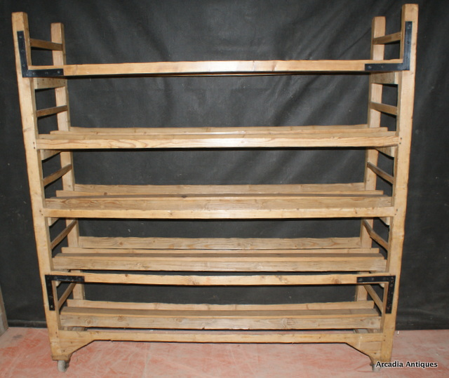 French Pine Bakers Rack Antique Shelves Racks