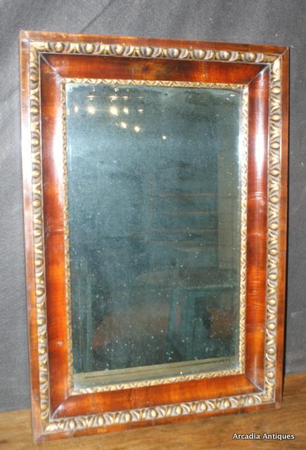 Mahogany and Parcel Gilt Mirror