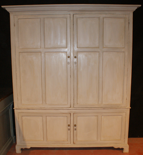 Painted Shallow Food Cupboard Antique CUPBOARDS