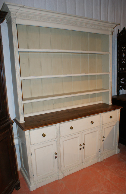 Painted English Dresser.