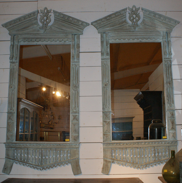 Pair Of Continental Mirror Frames.