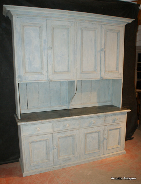 Unusual Painted Housemaids Cupboard