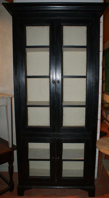 Black Wire Doored Cupboard
