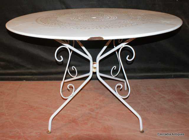 Painted Tin Cafe Table