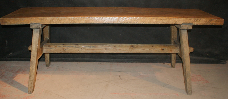 Oak and Fruitwood Trestle Table