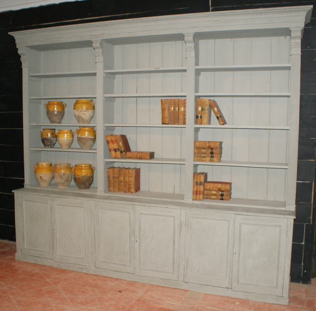Large Painted Bookcase Antique Bookcases