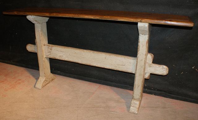 Elegant Narrow Trestle Table ...