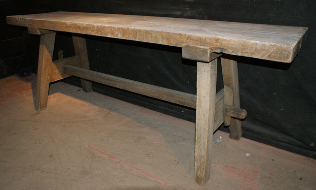 Bleached Trestle Table