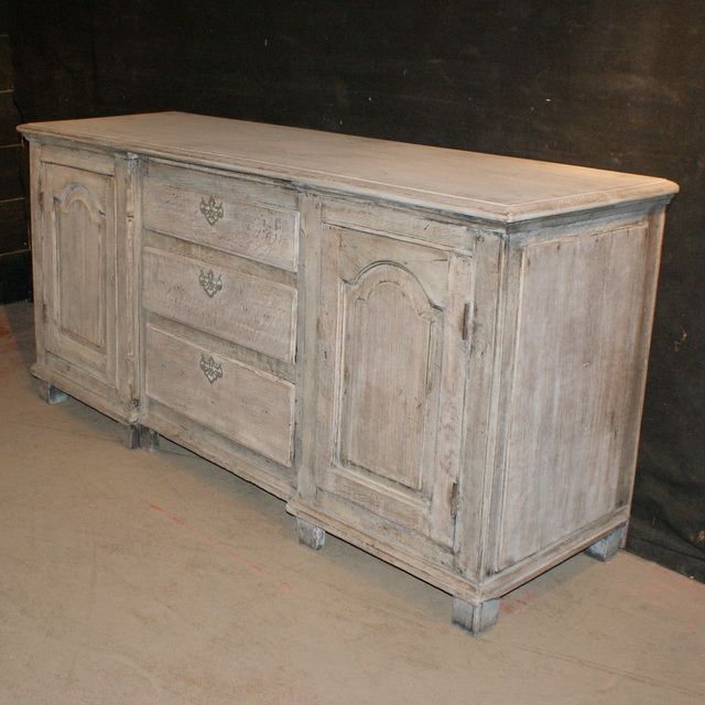 Bleached Oak Dresser Base