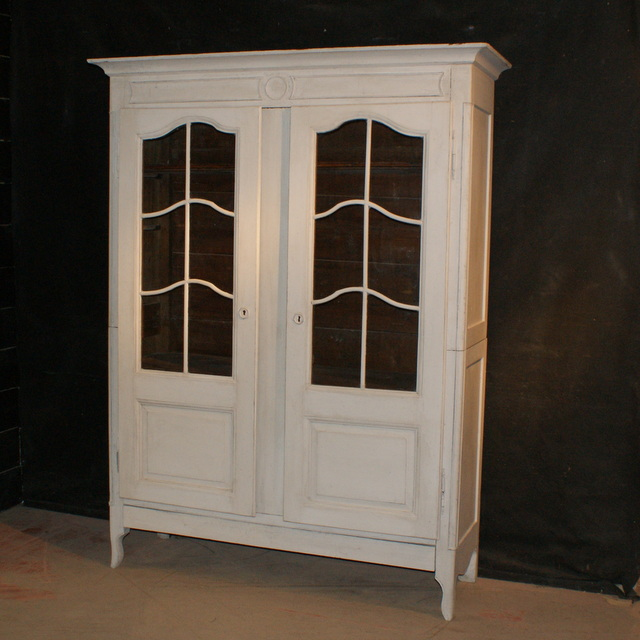 French Painted Display Cupboard