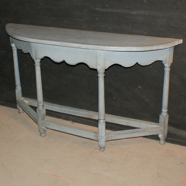Painted Demi Lune Console
