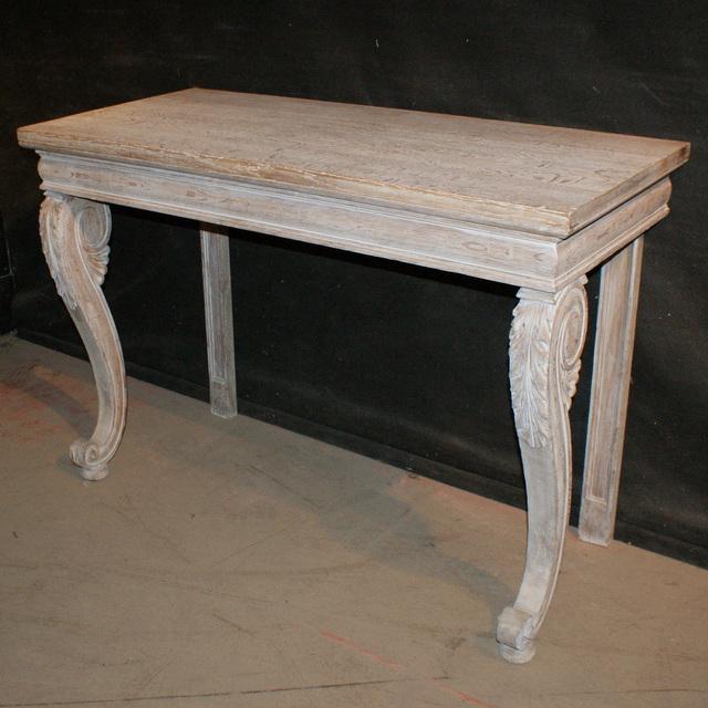 Bleached Oak Console Table ...