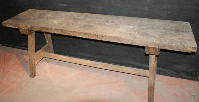 Bleached Trestle Table / Server
