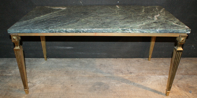 Solid Brass & Marble Low Table