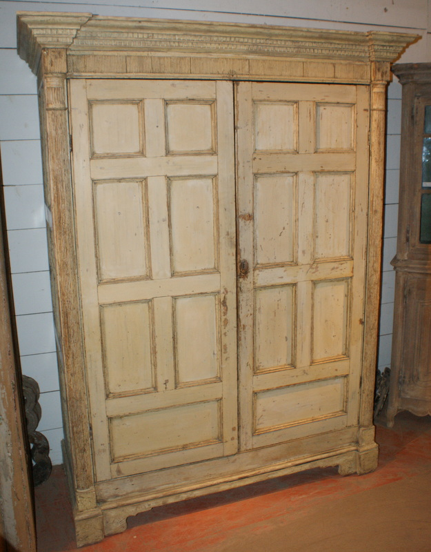 Original Painted Linen Cupboard