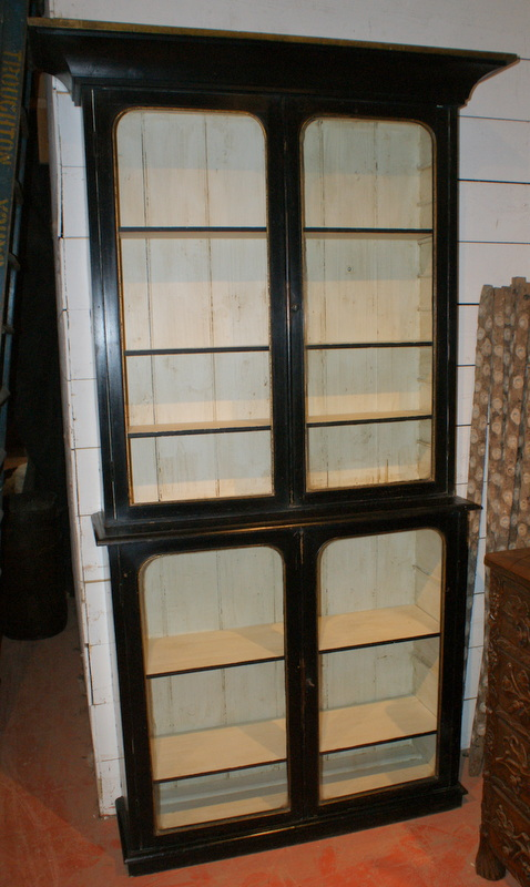 Black & Gilt Display Cabinet