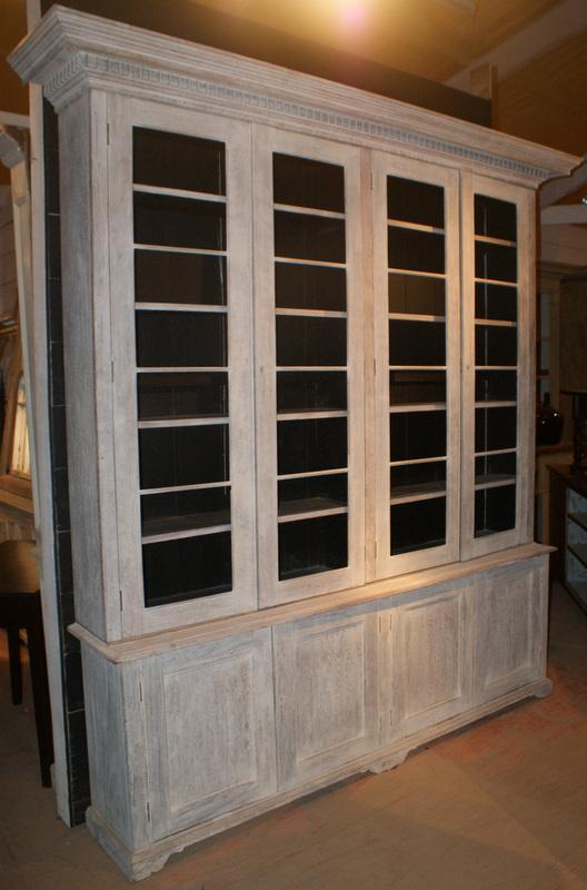 Bleached Oak Bookcase.
