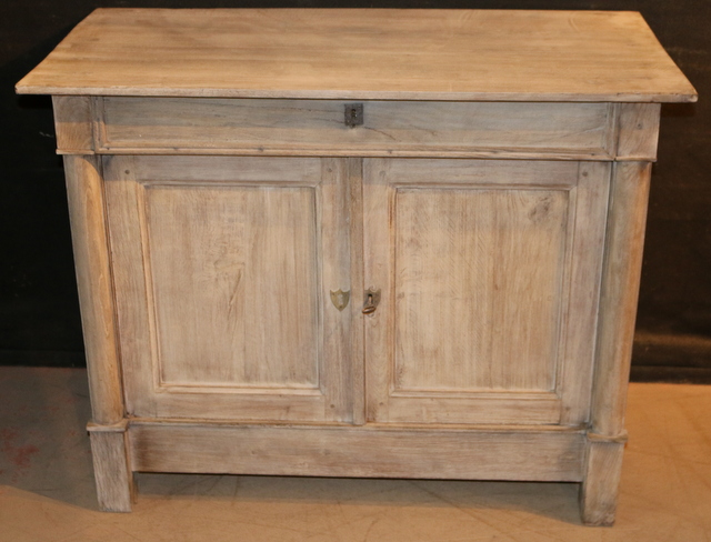 Bleached Oak Side Cabinet