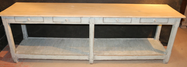 Painted french drapers table