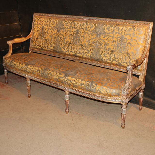 French Carved and Painted Sofa