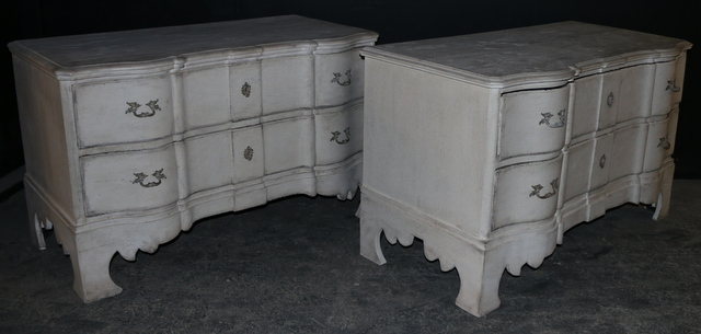 Pair of Serpentine Commodes