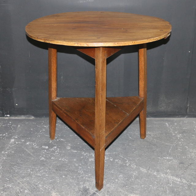 Fruitwood and Oak Cricket Table