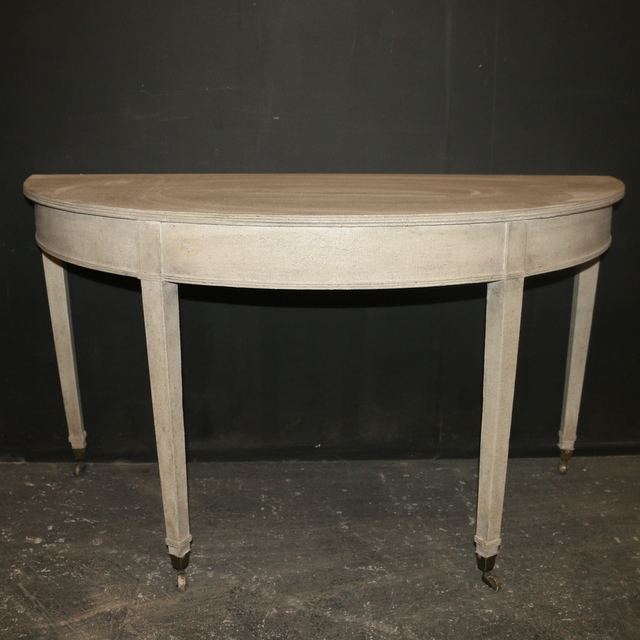 Painted Demi Lune Tables