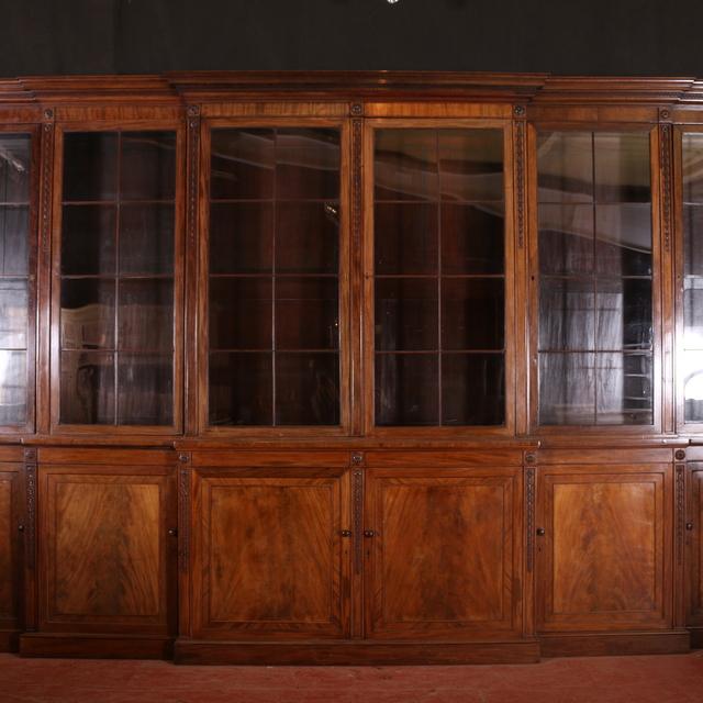 Huge Mahogany Bookcase