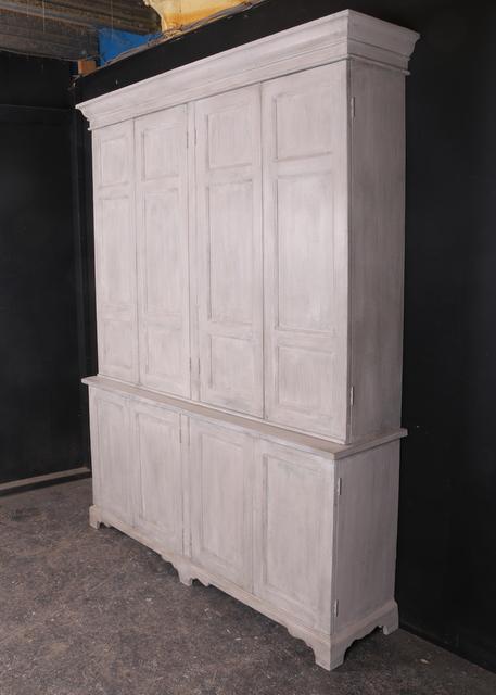 Narrow Painted Housekeepers Cupboard