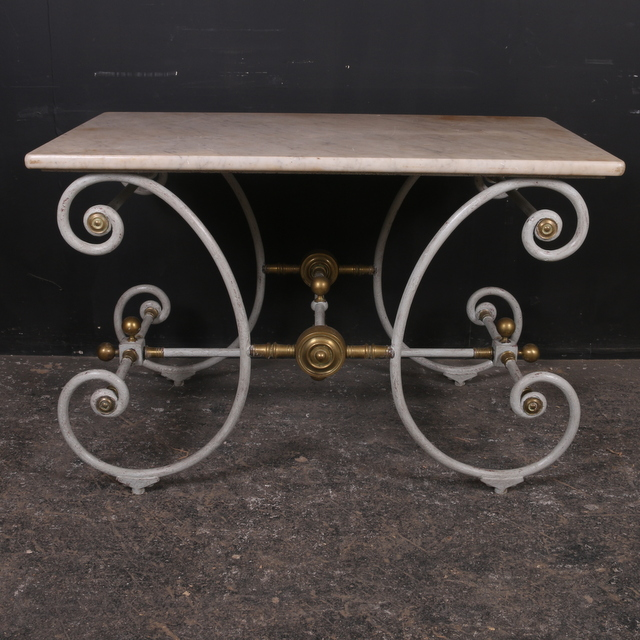 Antique French Butcher Table