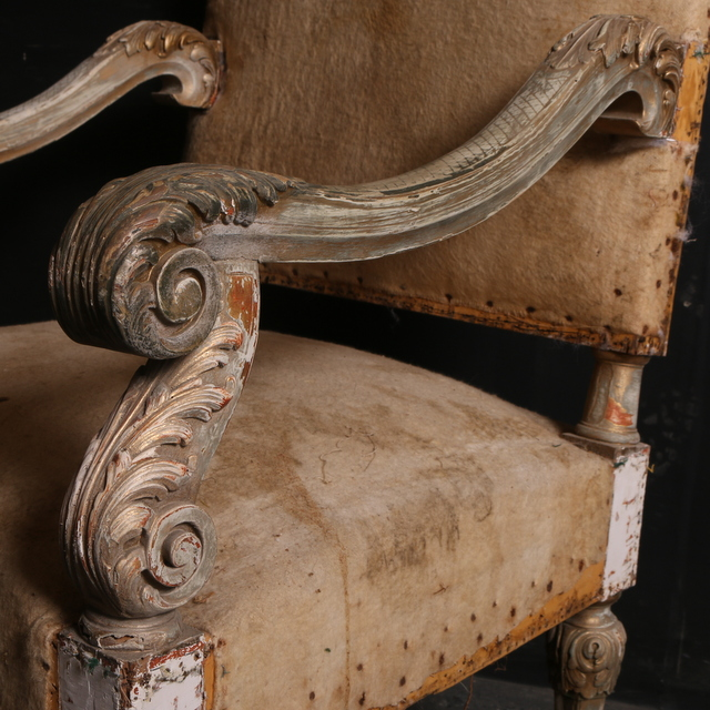 French Original Painted Armchair