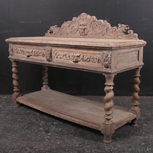 Antique Oak Side Table/ Server