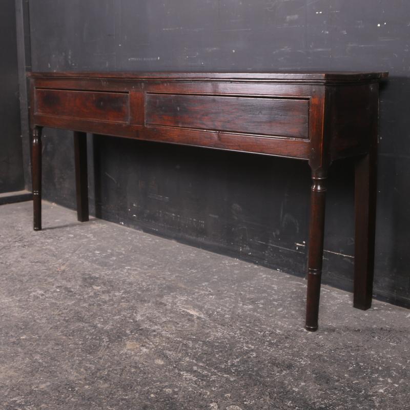 Narrow Oak Dresser Base