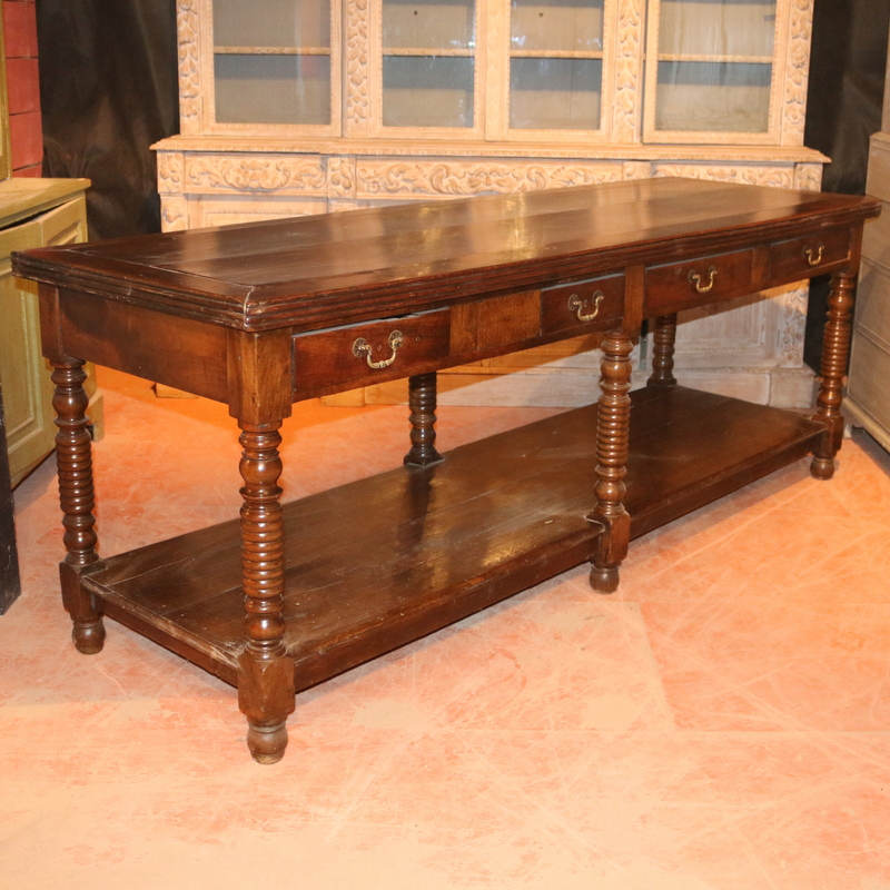 French Walnut Serving Table