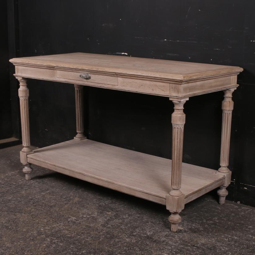 Antique Oak Drapers Table