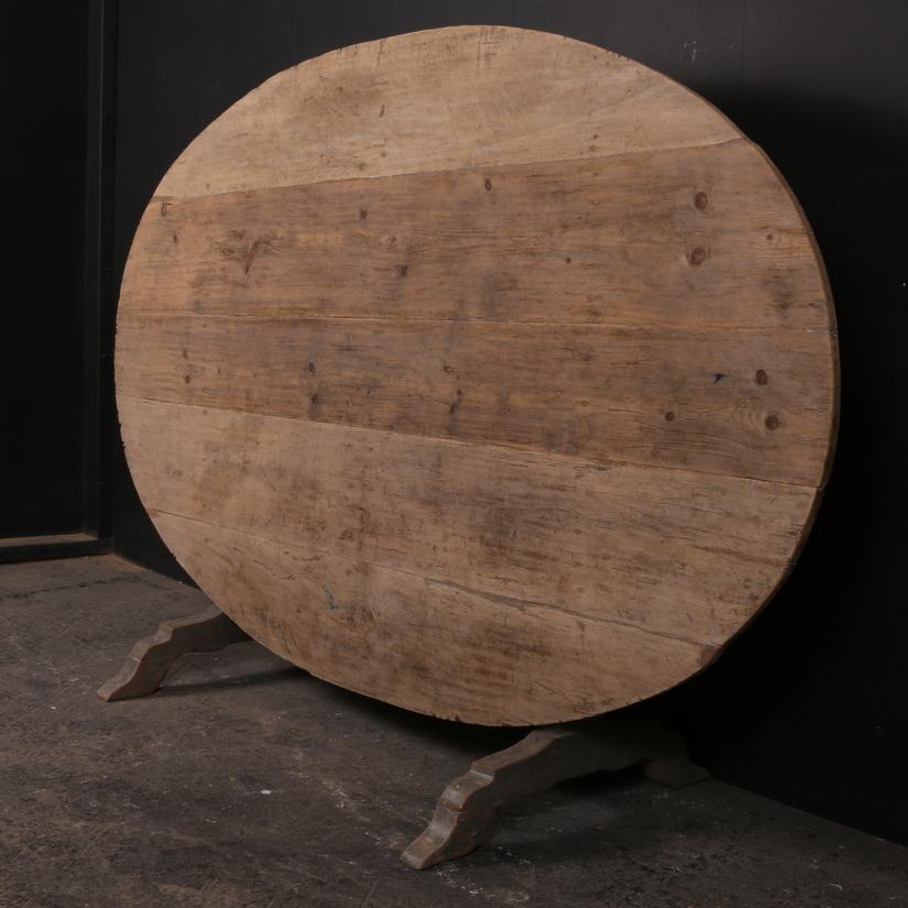 Oval Wine Tasting Table