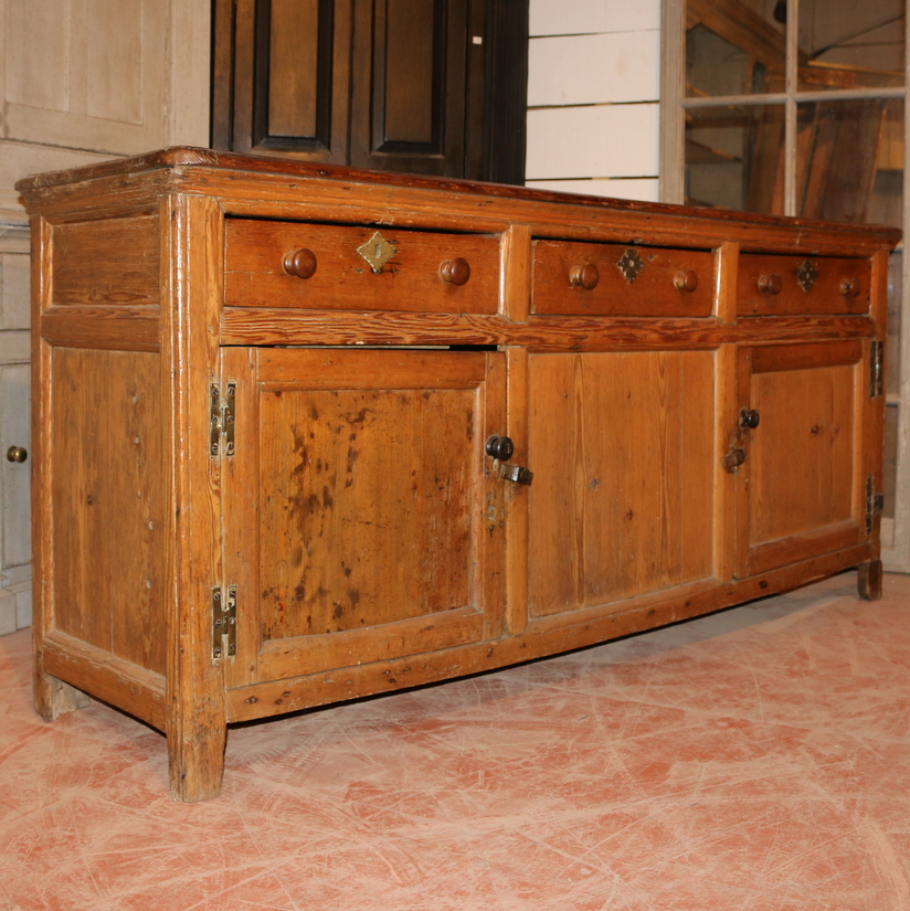 Antique English Dresser Base