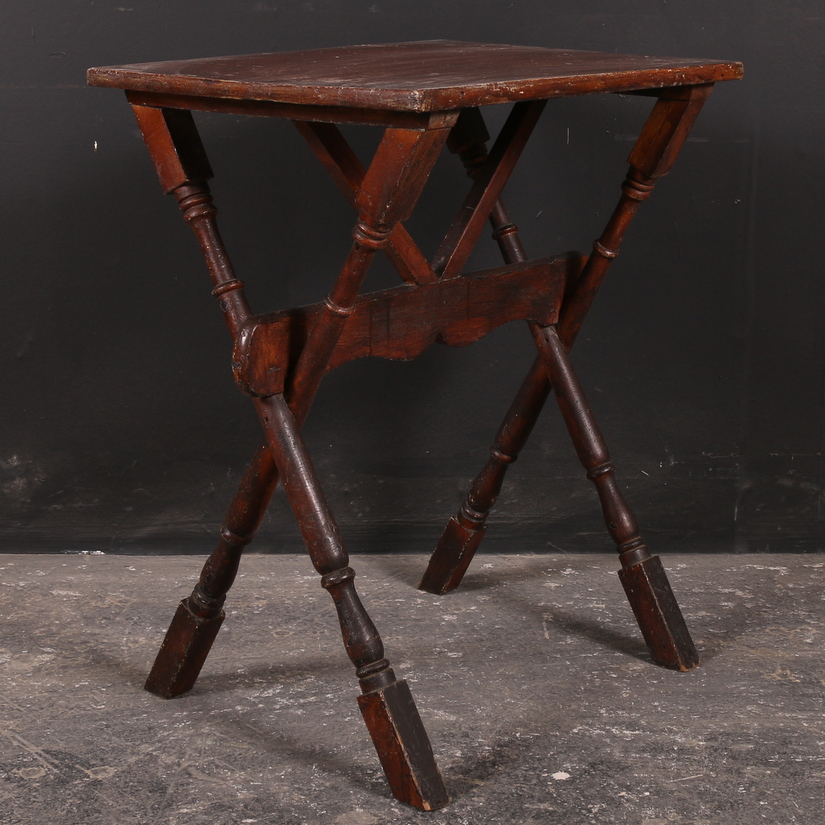 Trestle Type Lamp Table