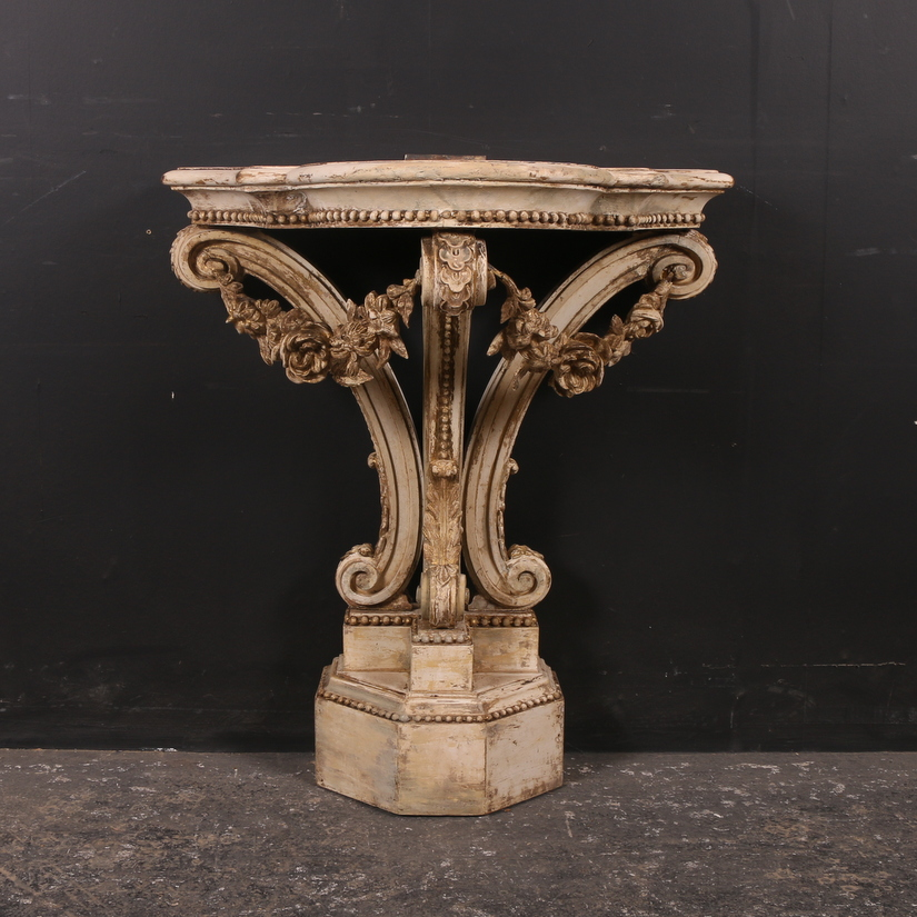 19th C French Painted Console