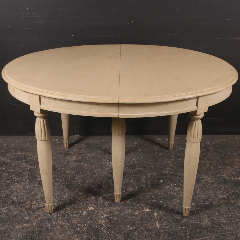 Swedish Painted Extending Dining Table