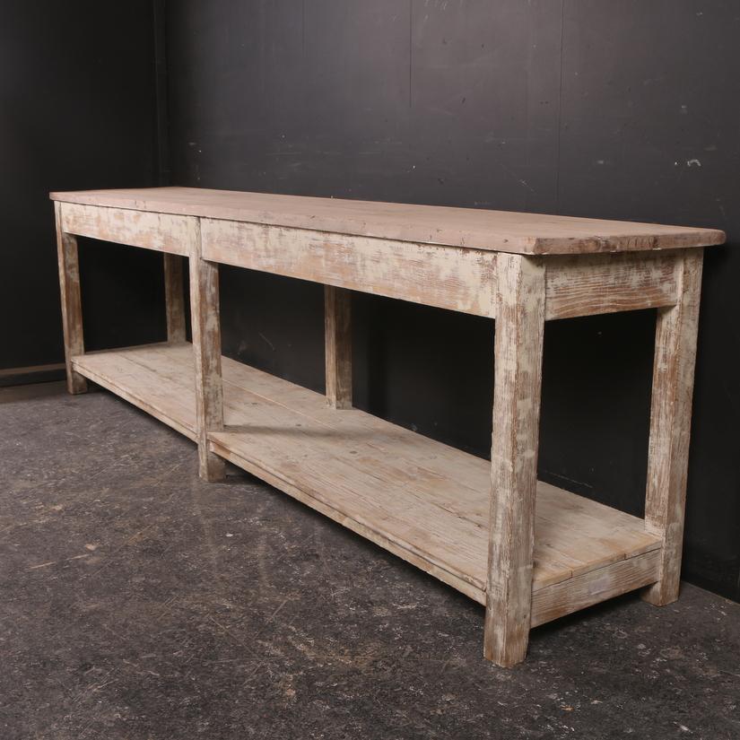 Painted Oak Serving Table