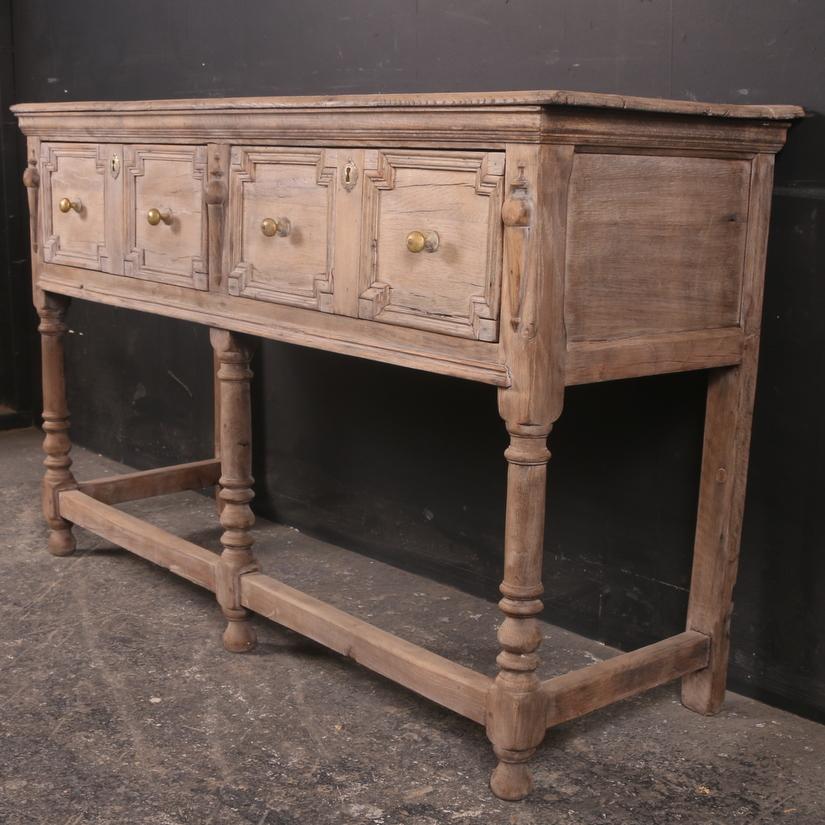 Bleached Oak Serving Table