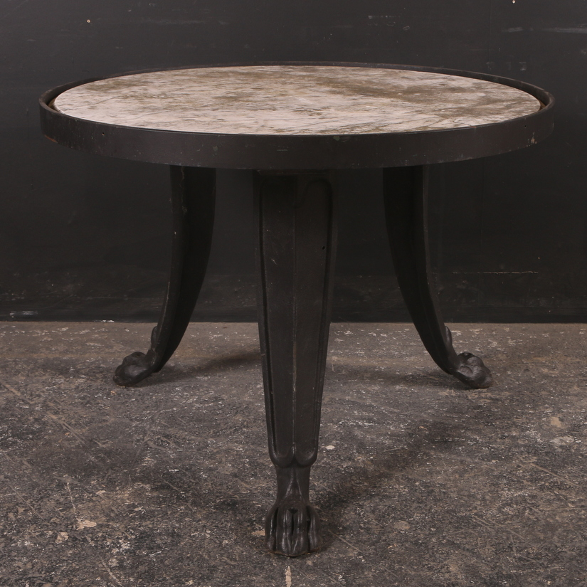 French Marble Top Lamp Table