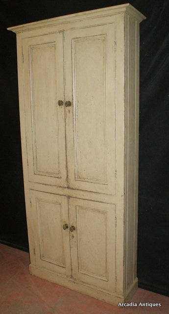 4 Door Narrow Cupboard Antique Cupboards