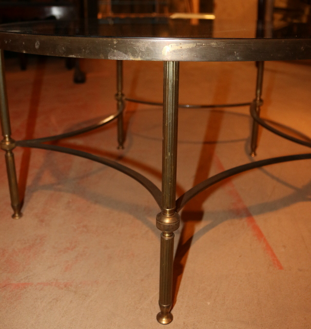 Brass And Glass Low Table Antique Coffee Tables