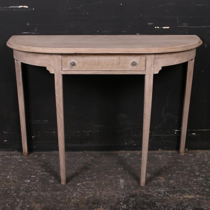 demi lune console table antique tables. Black Bedroom Furniture Sets. Home Design Ideas