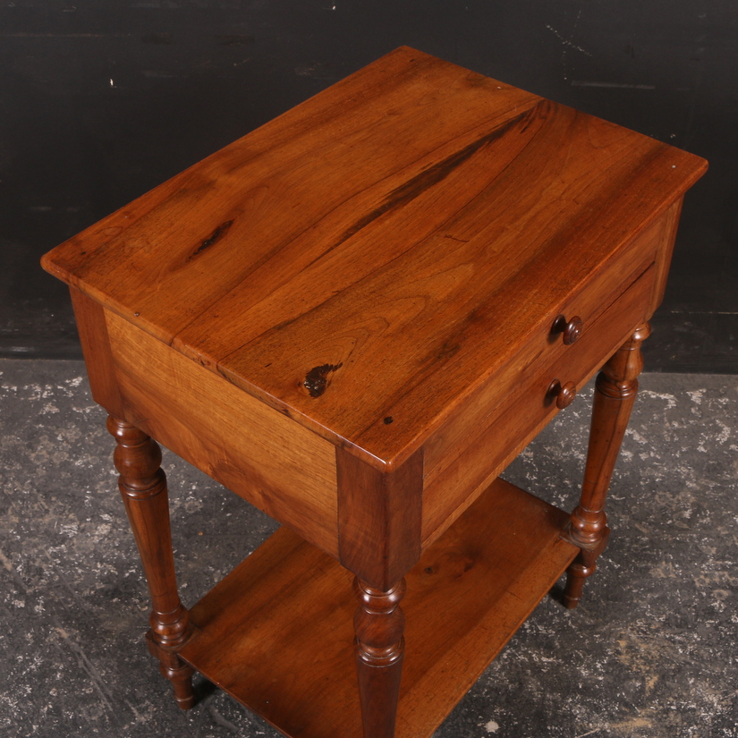 French Cherrywood Lamp Table