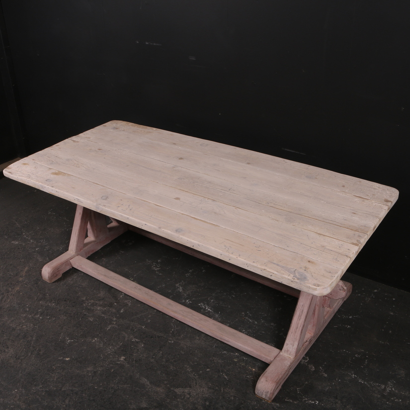 Painted Trestle Table