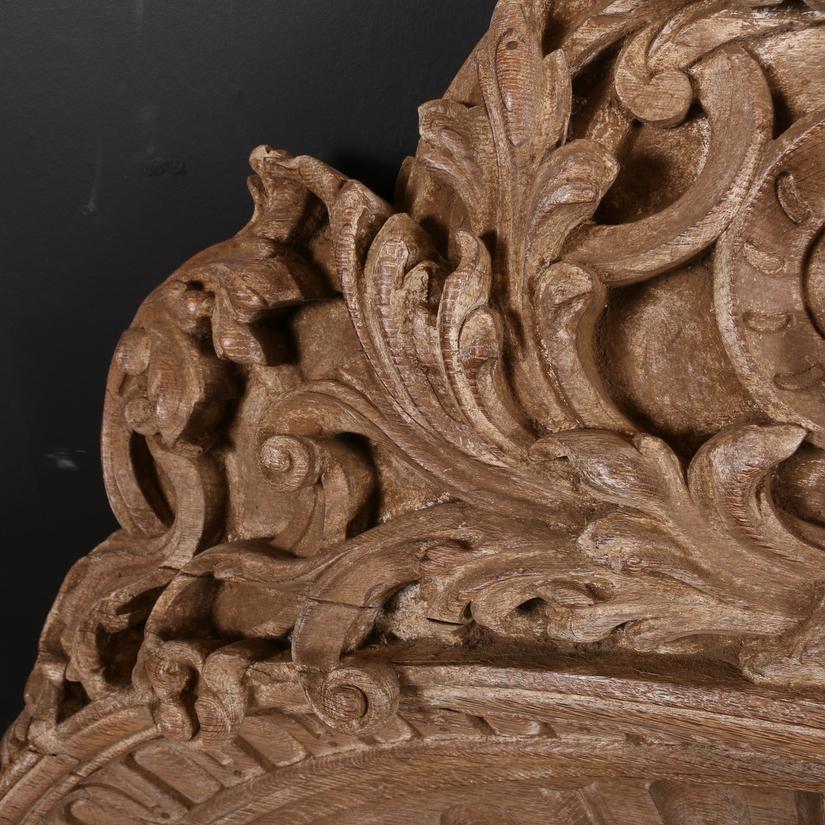 Carved Oak Overdoor