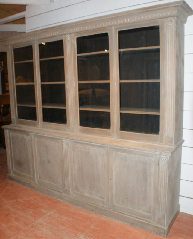 Oak Antique Bookcases And Display Cabinets Pine Storage